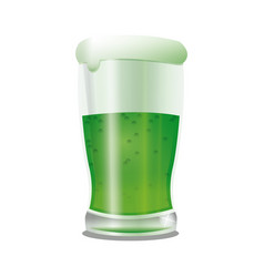 st patrick day concept glasses of green beer vector image vector image