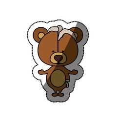 Toy teddy bear damaged design vector image