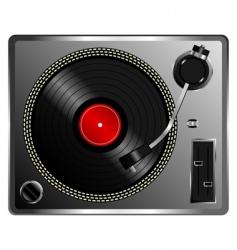 vinyl record deck vector image vector image
