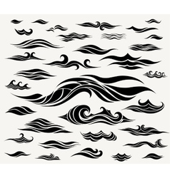 waves set of elements for design vector image vector image