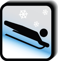 Winter icon -sledding vector image vector image