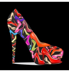 womens shoes with the texture vector image