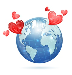Global valentines day vector