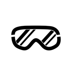 Ski goggles icon on white background vector
