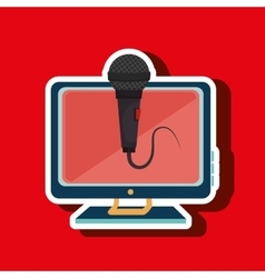 Pc screen microphone speaker vector