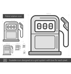 Petrol station line icon vector