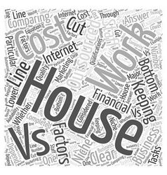 Comparing in house work and outsourced work word vector