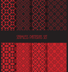 Endless oriental ornament repeatable geometric vector
