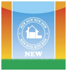 emblem of the new house vector image