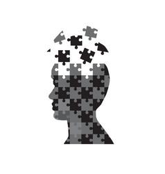 man head puzzle vector image