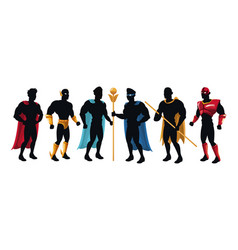 Dark character superhero gropu team powerful vector