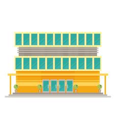 supermarket building facade flat vector image