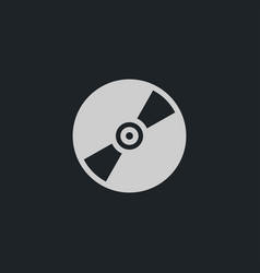 Cd disc icon simple vector