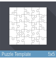 Jigsaw Puzzle Template 25 Pieces vector image