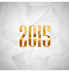 Happy new year 2014 holiday background with golden vector