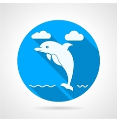 Dolphin flat icon vector