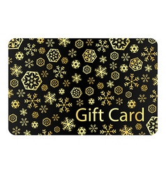 Exclusive black christmas gift card with golden vector