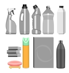 Set of household chemistry vector