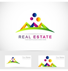 Real estate abstract logo vector