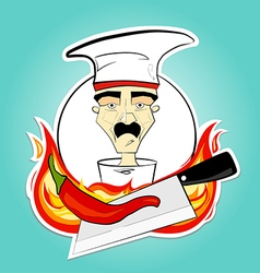 Chef and pepper vector