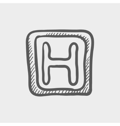 Hospital sketch icon vector