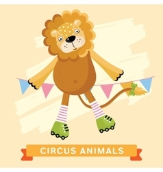Circus lion animal series vector