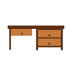 Wood table furniture vector