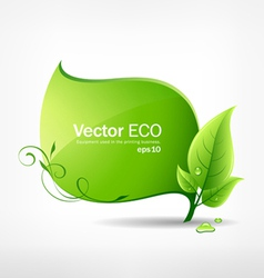 Green leaf concept vector