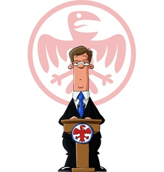 president vector image