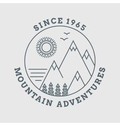 Mountain line landscape poster vector