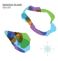 Abstract color map of navassa island vector