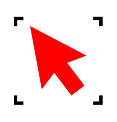 arrow sign red icon inside vector image