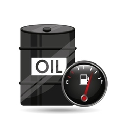 barrel oil concept industry automotive vector image vector image