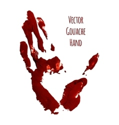 Blue greased hand of gouache vector