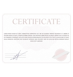 Classic certificate vector image
