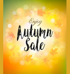fall autumn colorful sale background vector image