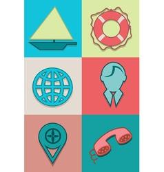 Icons sea vector