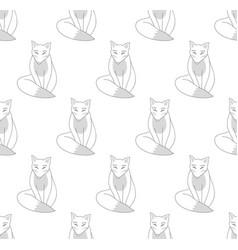 kitsune fox on white background vector image