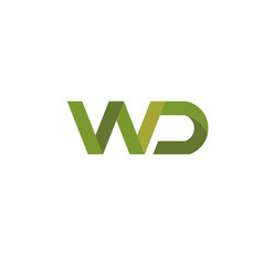 Letter wd logo digital technology style vector