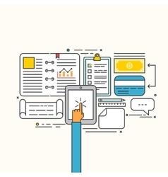 Modern flat design of business strategic vector