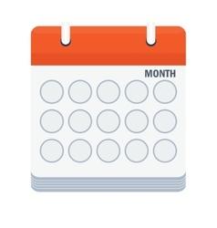 Month calendar icon vector