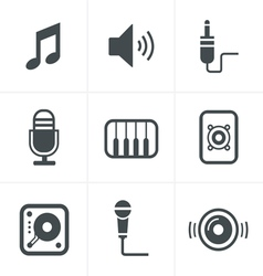Music Icons Set Design vector image