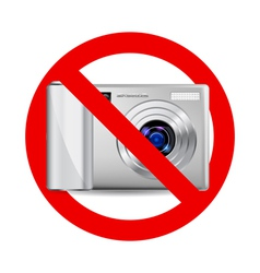 No camera sign vector image vector image