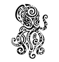 Ocean octopus ethnic pattern vector