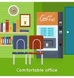 Office interior concept in flat design vector