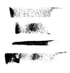 Set of 4 artistic mascara black strokes vector
