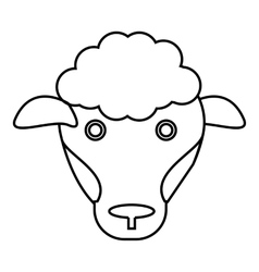 Sheep icon outline style vector image