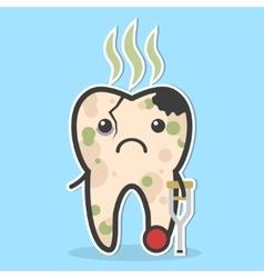 Unhealthy tooth concept vector