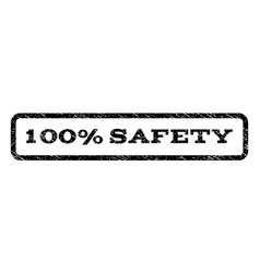 100 percent safety watermark stamp vector