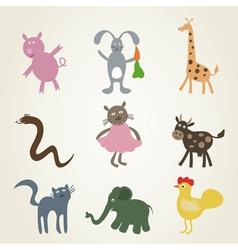 Cartoon film an animal2 vector image